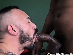 Muscular black stud barebacking hunk