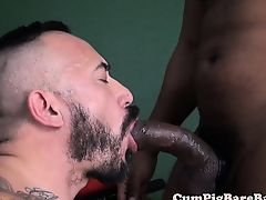Muscular black stud barebacking hunk