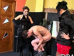 Lewd female domination fetish with hawt babe getting licked