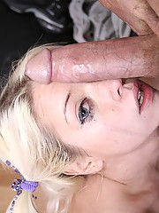 Slutty Crista Moore Gags On A Huge Dick