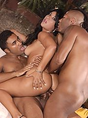 Sexy latin babe getting pounded in every hole!