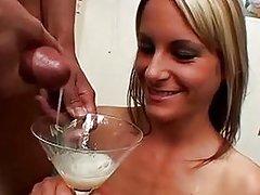 Cum swallow huge