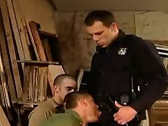 Horny cop fuck two guys