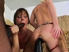 Brutal butthole threesome with cowboy