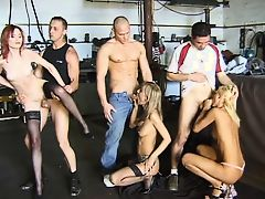 A really big orgy, group sex.