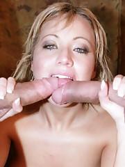 Busty Pornstar Three Way Fuck