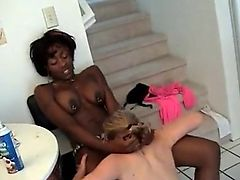 White Lesbians Worship and Lick Black Ass