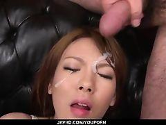 Facial to end Reis nasty porn adventure