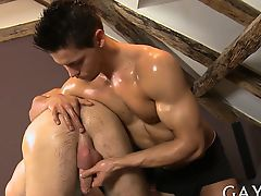 Unfathomable engulfing his thick warm hard cock