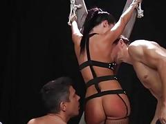 Jada Stevens gets hard anal fucking and double penetration
