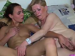 Teen Is Fingered By Granny