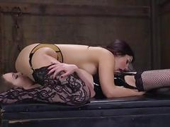 Naughty Lesbians Get Anal Punishment