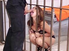 Petite Sara Luvv Punished by Officer of Law