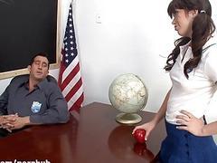 WANKZ - Schoolgirl Gets Thumb Up Her Tight Butt!