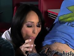 Busty maiden has her tight twat plowed