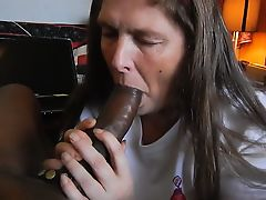 Old Sucks on the Large Black Cock