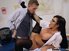 Horny Doctor Candy Sexton Experiences Patients Cock